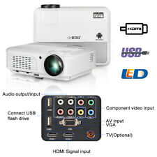LED LCD Projector 1080p Multimedia Home Theater Video Game Wedding Party Bar KTV