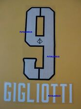 GIGLIOTTI # 9 BOCA JUNIORS 2014-2015 HOME NAME AND NUMBER SET