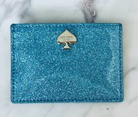 NWT Kate Spade Card wallet Glitter Bug Graham Lakesedge blue Sparkle New