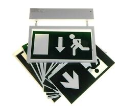 LED Emergency Escape Exit Light Sign Non-Maintained / Maintained with Legends