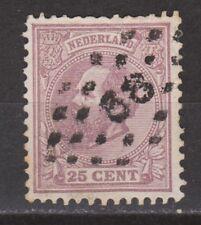 NVPH Netherlands Nederland 26 TOP CANCEL OUDEWATER 88 Willem III 1872
