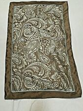 "King Size 19.5x35"" Pillow Sham Polyester Brocade Paisley Dark Taupe Teal RN91519"