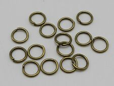 600Pcs Bronze Tone Open Jump Ring 8X1mm Circle Connector Jewelry Making