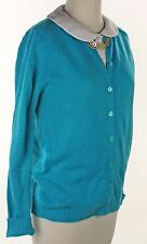 60s Turquoise Blue Cardigan Sweater - Vintage Ann Robin Acrylic Button Up