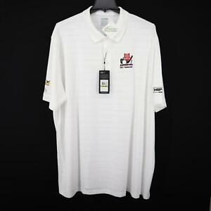 NWT Callaway V Opti-Dri White Athletic Golf Polo Shirt Size 4XL Golf Tournament