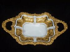 Elegant Meissen Heavily Gilded Handled Centerpiece Bowl