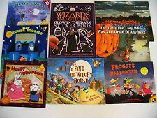 Lot 8 kids Halloween picture/story/sticker books Corduroy/Froggy/Glow in Dark
