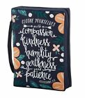 Bible Cover Compassion Kindness Humility Col.3:12 NEW Sturdy Canvas Handle Large