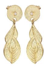 Designer Ohrhänger Gold 750 mit Brillant Ohrstecker super Ohrringe Gelbgold 18kt