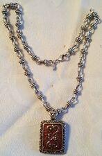 Premier Designs Lauren chain necklace + enchancer pendant set lot of 2