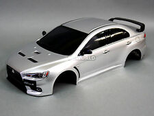 1/10 RC Car BODY Shell MITSUBISHI EVOLUTION Lancer Evo X 190mm *FINISHED* Silver