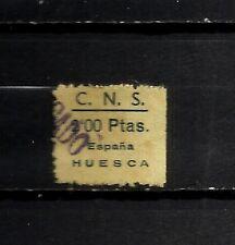 3558-SELLO GUERRA CIVIL FALANGE C.N.S.HUESCA 2 PTS 1939.NO CATALOGADO.SPAIN WAR.