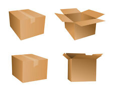 200 x SMALL MAILING PACKING CARDBOARD BOXES 6x6x6""