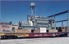GM Electro-Motive Division 2150 HP diesel engine postcard