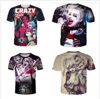 Cool Fashion Women/Mens Harley Quinn and Joker Funny 3D Print Casual T-Shirt J05
