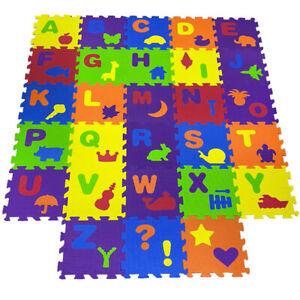 Alphabet Baby Kids Soft Eva Foam Puzzle Floor mat Educational Play Activates