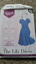 Il GIGLIO Abito Vestito semplice Motivo Cucire in 4 Stili Taglie 6-20 WOMEN'S