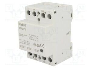 Contactor: 4-pole installation 40A 230VAC 220VDC DIN[1 pcs]