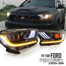 PROJECTOR HEADLIGHTS LAMPS LED DAYTIME FOR FORD RANGER MK2 15-ON PX2 XLT MUSTANG