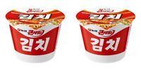 Korean Instant Noodle NONGSHIM KIMCHI Keun Sabal 2pack Cup Ramen Ramyun