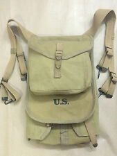 "WWII US M1928 Haversack Backpack ""marked"" 1943 - Reproduction"