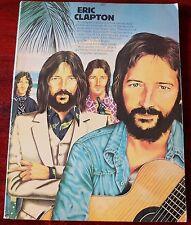 Eric Clapton Eric Clapton raro libro de canciones (1974) Piano Guitarra ficha Reino Unido vocal