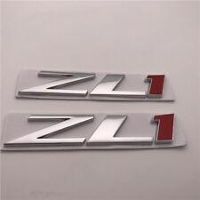 "2 pcs Custom car Emblem ""ZL1"" Hood Cowl Nameplate Badge 12-15 Camaro 22830718"