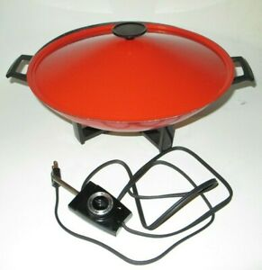 Vintage Electric Wok Frying Skillet West Bend 5109 Tested and Working