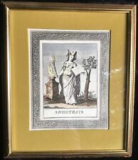 Mid-Century Windsor Art Products Hand Colored Litho of the Goddess Nicostrata