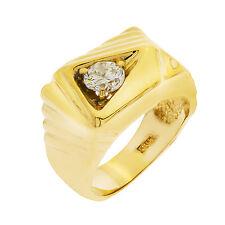 14K Yellow Gold Diamond Mens Ring  Size 8.5  0.65ct  12.2 Grams