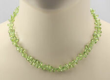 Peridot-Kette in Tropfenform - facettiert 43,5 cm lang - Gemini Gemstones
