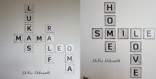 Scrabble Buchstaben 10 x 10 cm Wanddeko Shabby Handgemacht