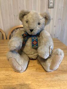 "Vintage 1994 The Vermont Teddy Bear Company 20"" Beige Jointed Teddy Bear Plush"