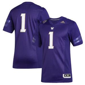 Men's adidas #1 Purple Washington Huskies Premier Football Jersey NCAA PAC 12