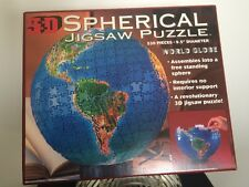 WORLD GLOBE•JIGSAW PUZZLE•SPHERICAL •3D•530 3mm wide Pieces•1995 Buffaloes Games