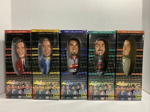 NSYNC Best Buy 2001 Collectible Bobbleheads. All 5 Dolls In Original Boxes.