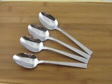 "4 Oneida Brookwood Oval Soup Place Spoons 7 1/8"" Wm Dalton Stainless Flatware"