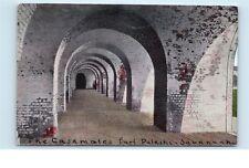 *Inside the Casemates Savannah Georgia Old Vintage Postcard C28