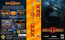 Mortal Kombat II Sega 32x Replacement Box Art Case Insert Cover Scan