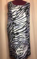 Dana Kay 24W 2X? Dress Women's Plus Purple Black Animal Print Zipper Career V19