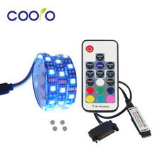 2m Magnetic RGB LED Color Strip Light SMD Kit PC Case SATA power Remote Control