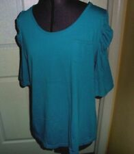 *Mix & Co. Knit Top Shirt Size L Blue Lightweight Nwt