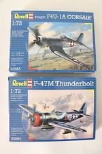 Revell 1:72 F4U-1A Corsair / P-47M Thunderbolt Bundle Lot - Model Kit Scale Plan