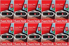 10 Pack of SanDisk 32GB Cruzer Glide USB 2.0 Flash Pen Drive SDCZ60-032G Retail