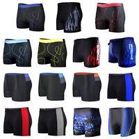 Men Swimming Trunks Swimwear Boxer Shorts Elastic Beach Bathing Suit Quick Dry
