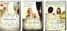 LOW COUNTRY ROMANCE 1-3: Caroline,Elle,Joy by Rachel Hauck 3 paperback book set