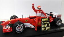 Hot Wheels 1/18 Scale B6200 Ferrari F1 Schumacher 7 Times W/C with Figure
