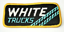 Vintage White Truck Semi Trucking Cloth Patch New NOS 1970s 18 Wheeler Tred
