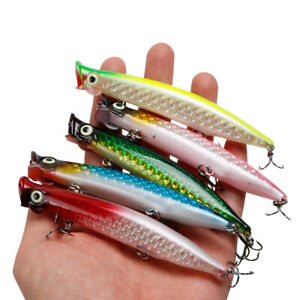 5PCS/Lot Topwater Popper 11cm/13g Fishing Lures Bass Trout Hard Bait Tackle Lure