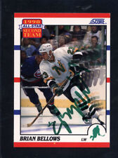 1990 Score #322 Brian Bellows Signed Auto Autographed Card North Stars Jc Loa *9